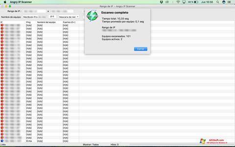Снимка на екрана Angry IP Scanner за Windows 10
