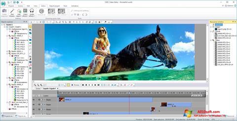 Снимка на екрана VSDC Free Video Editor за Windows 10