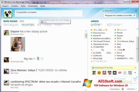 Снимка на екрана Windows Live Messenger за Windows 10