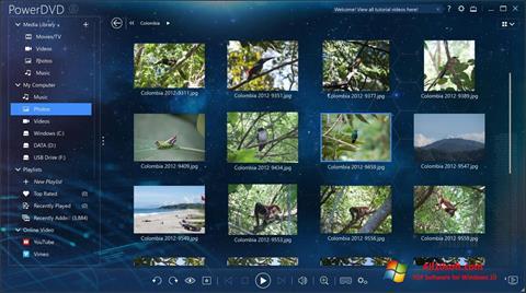 Снимка на екрана PowerDVD за Windows 10