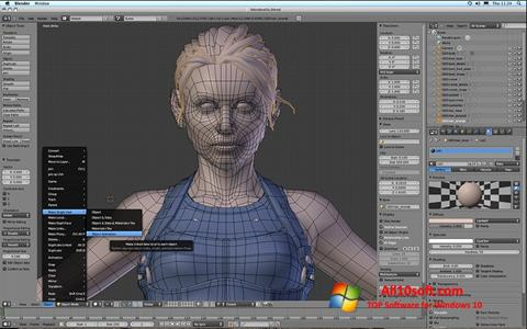 Снимка на екрана Blender за Windows 10