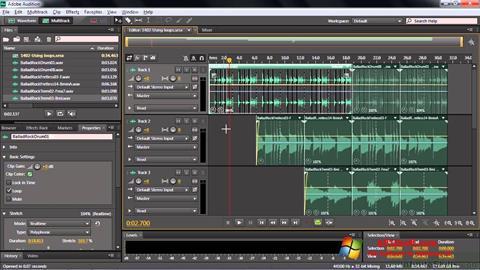 Снимка на екрана Adobe Audition CC за Windows 10