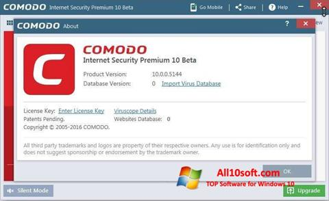 Снимка на екрана Comodo за Windows 10