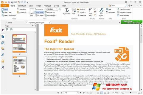 Снимка на екрана Foxit Reader за Windows 10