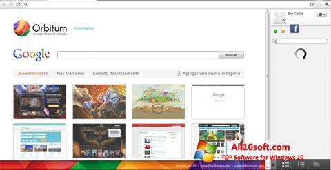 Снимка на екрана Orbitum за Windows 10