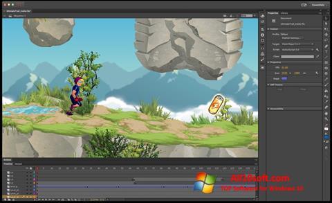 Снимка на екрана Adobe Flash Professional за Windows 10