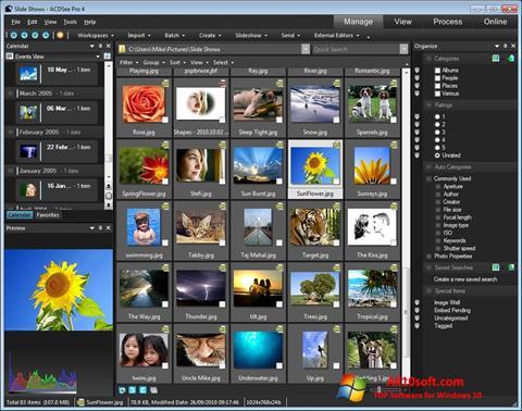 Снимка на екрана ACDSee за Windows 10