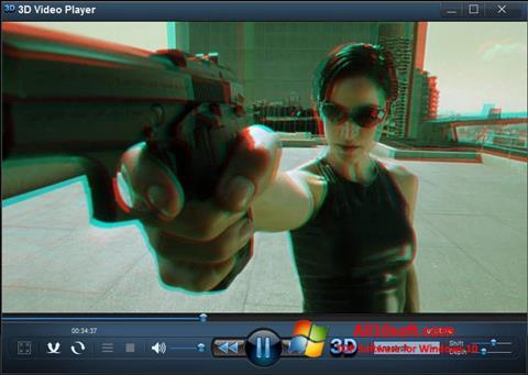 Снимка на екрана 3D Video Player за Windows 10