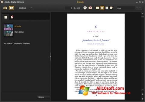 Снимка на екрана Adobe Digital Editions за Windows 10
