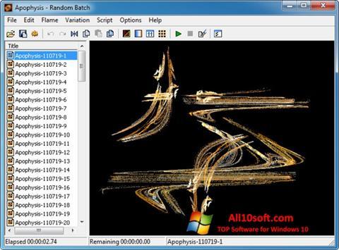 Снимка на екрана Apophysis за Windows 10