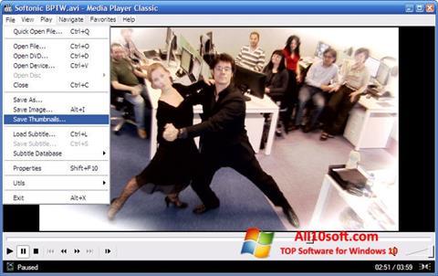Снимка на екрана Media Player Classic за Windows 10
