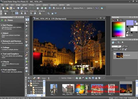 Снимка на екрана PaintShop Pro за Windows 10