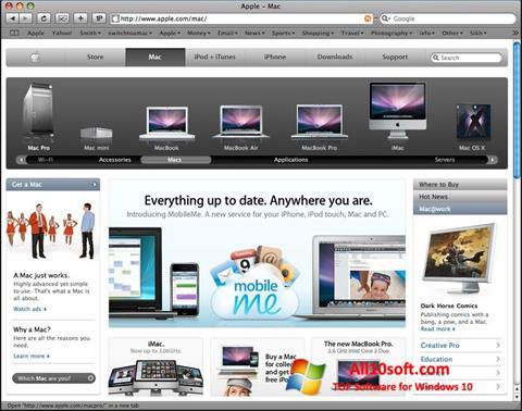 Снимка на екрана Safari за Windows 10