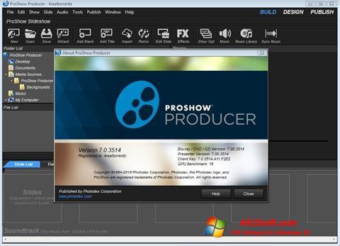 Снимка на екрана ProShow Producer за Windows 10