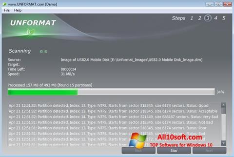 Снимка на екрана UNFORMAT за Windows 10