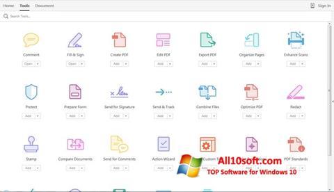 Снимка на екрана Adobe Acrobat Pro за Windows 10