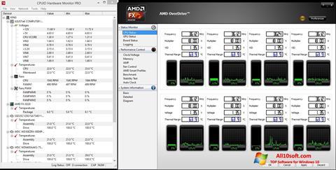 Снимка на екрана AMD Overdrive за Windows 10
