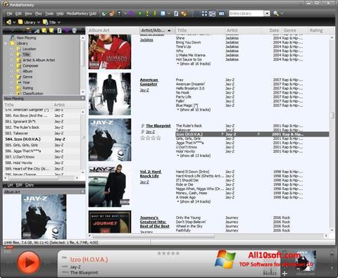 Снимка на екрана MediaMonkey за Windows 10