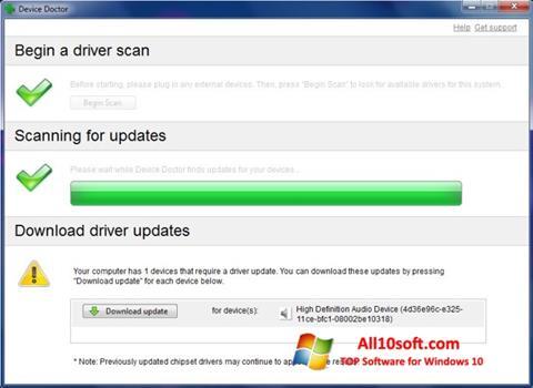 Снимка на екрана Device Doctor за Windows 10
