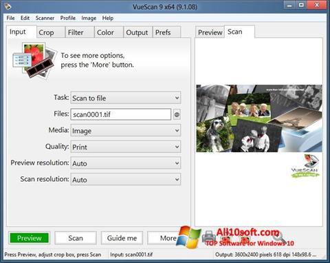 Снимка на екрана VueScan за Windows 10