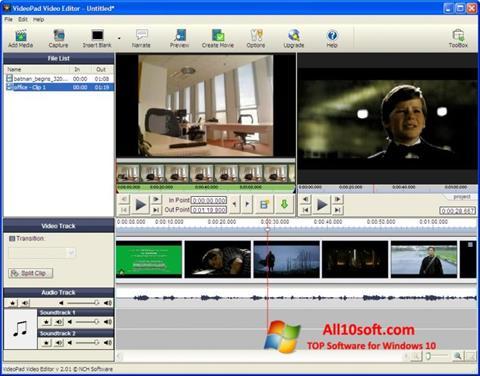 Снимка на екрана VideoPad Video Editor за Windows 10
