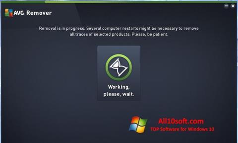 Снимка на екрана AVG Remover за Windows 10