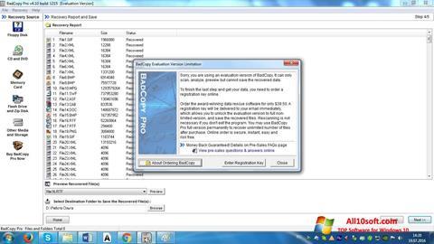 Снимка на екрана BadCopy Pro за Windows 10
