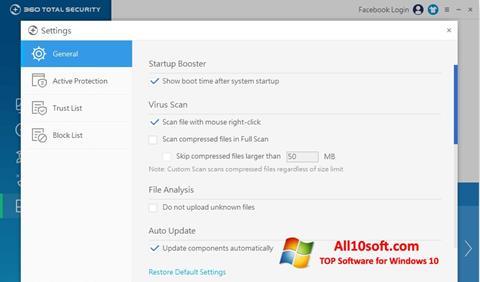 Снимка на екрана 360 Total Security за Windows 10