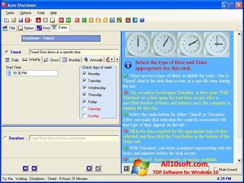 Снимка на екрана Auto ShutDown за Windows 10