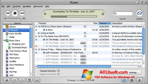 Снимка на екрана iTunes за Windows 10