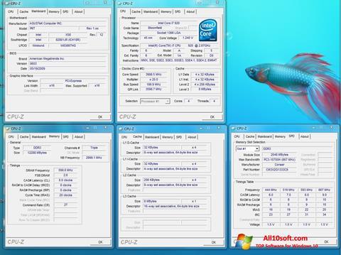 Снимка на екрана CPU-Z за Windows 10
