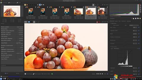 Снимка на екрана RawTherapee за Windows 10