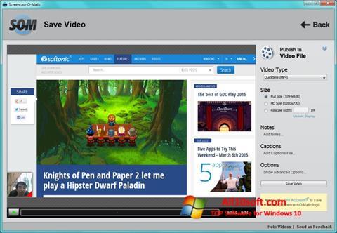 Снимка на екрана Screencast-O-Matic за Windows 10