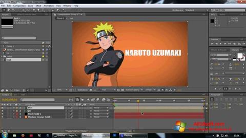 Снимка на екрана Adobe After Effects за Windows 10