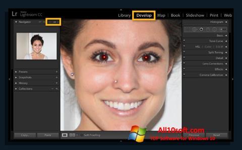 Снимка на екрана Red Eye Remover за Windows 10