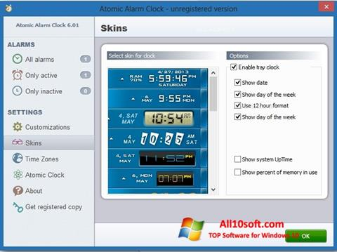 Снимка на екрана Atomic Alarm Clock за Windows 10