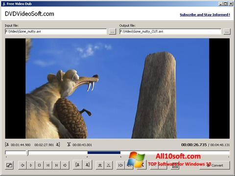 Снимка на екрана Free Video Dub за Windows 10