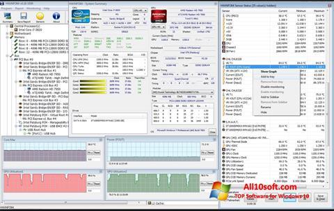 Снимка на екрана HWiNFO за Windows 10