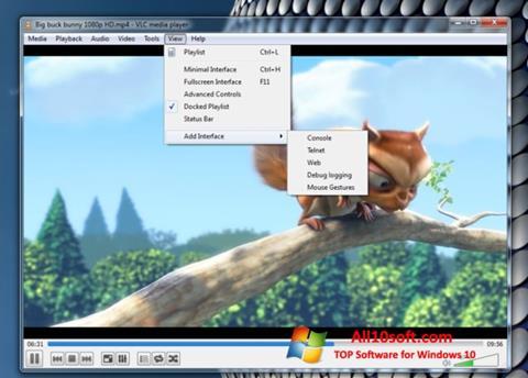 Снимка на екрана VLC Media Player за Windows 10