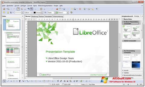 Снимка на екрана LibreOffice за Windows 10