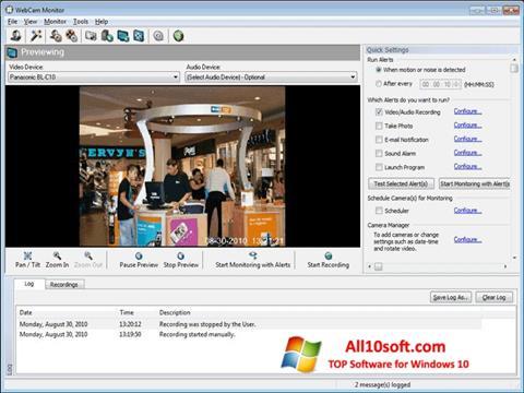 Снимка на екрана WebCam Monitor за Windows 10