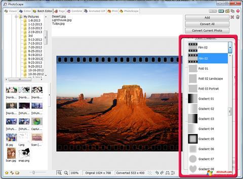 Снимка на екрана PhotoScape за Windows 10