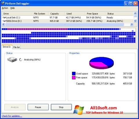 Снимка на екрана Defraggler за Windows 10