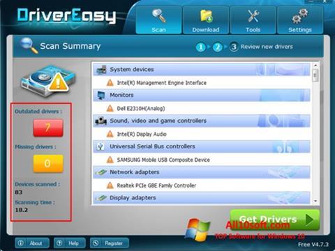 Снимка на екрана Driver Easy за Windows 10