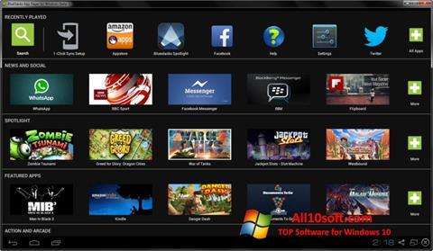 Снимка на екрана BlueStacks за Windows 10