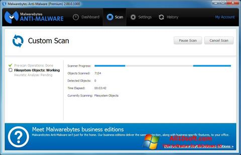 Снимка на екрана Malwarebytes Anti-Malware Free за Windows 10
