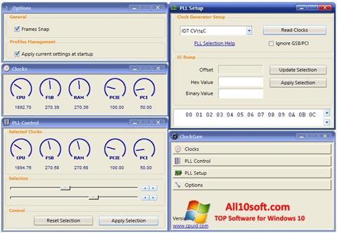 Снимка на екрана ClockGen за Windows 10