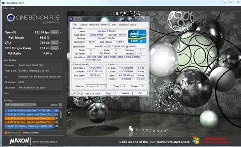 Снимка на екрана CINEBENCH за Windows 10