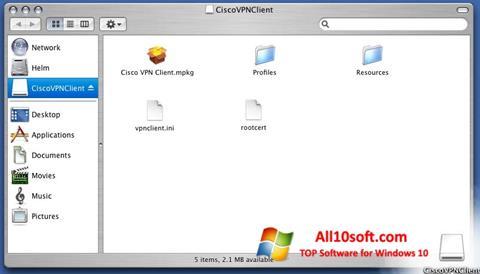 Снимка на екрана Cisco VPN Client за Windows 10