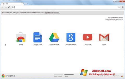 Снимка на екрана Google Chrome за Windows 10